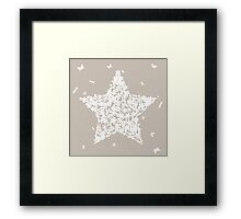 Natural star Framed Print