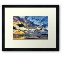 entering into the sea world.... Framed Print