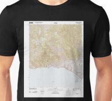 USGS TOPO Map California CA Topanga 20120405 TM geo Unisex T-Shirt