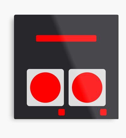 NES Buttons Metal Print