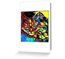 Painted Kittens Greeting Card