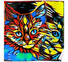 Painted Kittens Poster