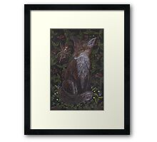 Fox in the Raspberries Framed Print