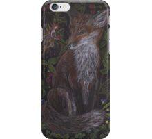 Fox in the Raspberries iPhone Case/Skin