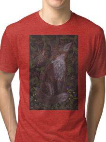 Fox in the Raspberries Tri-blend T-Shirt