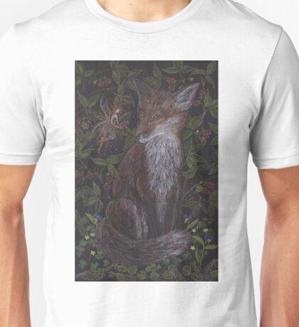 Fox in the Raspberries Unisex T-Shirt