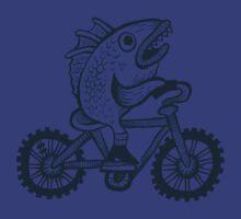 Fish on a bike tee by yamako