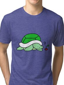 Confused Cherry Turtle Tri-blend T-Shirt