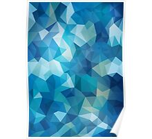 Abstract Geometric Polygon Sea Poster