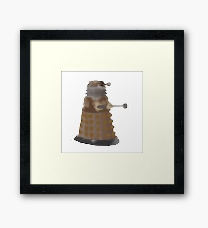 Watercolour dalek Framed Print