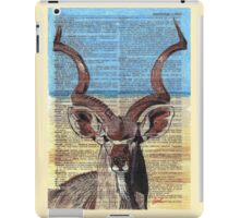 Kudu on Dictionary Paper iPad Case/Skin
