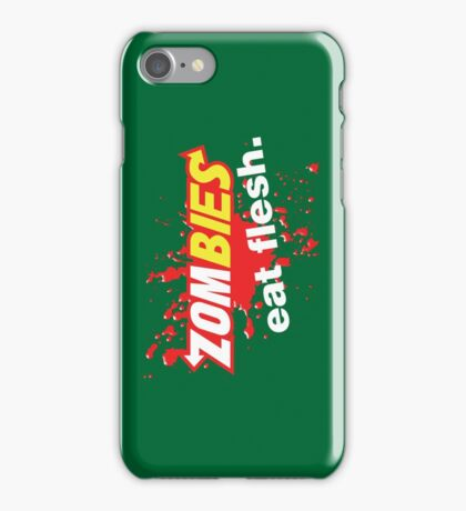 Zombies Eat Flesh Blood Variant iPhone Case/Skin