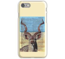 Kudu on Dictionary Paper iPhone Case/Skin