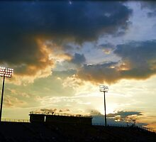 Sunset over Ed Defore Stadium by DonBPhotography