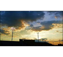 Sunset over Ed Defore Stadium Photographic Print
