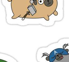 Pugvengers Sticker