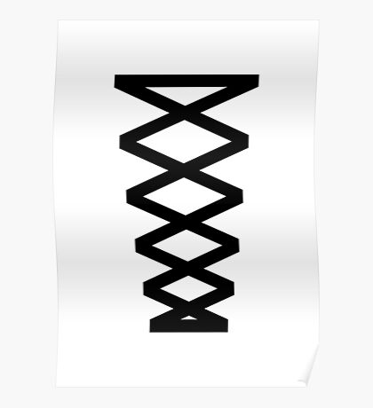Corset in Black & White  Poster