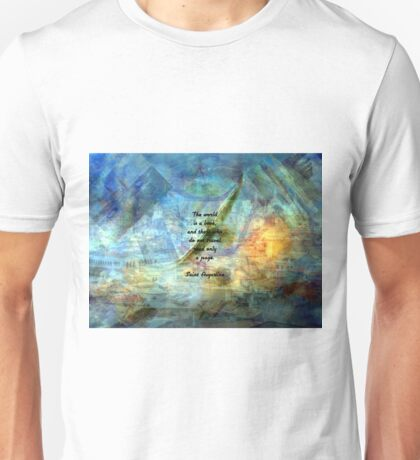 THE WORLD IS A BOOK Inspirational Travel Quote Unisex T-Shirt