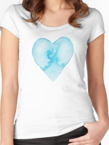 HEART IN THE CLOUDS Women's Fitted Scoop T-Shirt