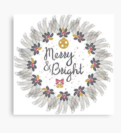 Merry and Bright Canvas Print
