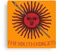 The South Forgets Martell Game of Thrones Canvas Print