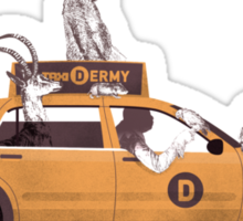 1-800-TAXI-DERMY Sticker