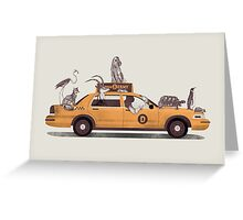 1-800-TAXI-DERMY Greeting Card