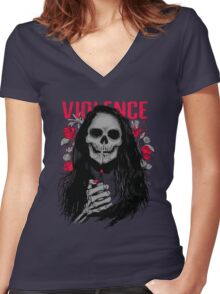 Violence Women's Fitted V-Neck T-Shirt