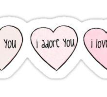 Three Hearts Sticker
