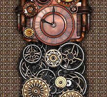 Infernal Steampunk Timepiece #2 phone cases by Steve Crompton