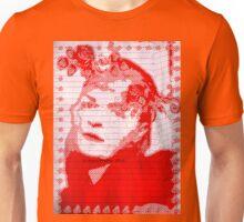 Red Lady Digital Art Portrait Unisex T-Shirt