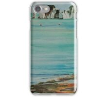 Old Harry Rock Watercolour iPhone Case/Skin