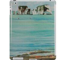 Old Harry Rock Watercolour iPad Case/Skin