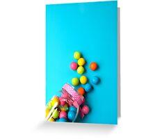 Bubblegum Rainbow Candy Flat lay Greeting Card