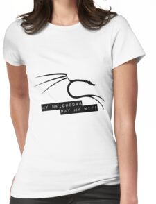 My Neighbors Pay My WiFi - Kali Linux Womens Fitted T-Shirt