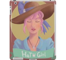 Hat Girl Candy Color iPad Case/Skin
