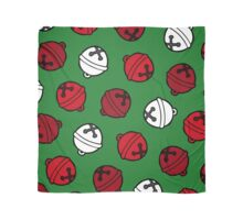 Jingle Bells Christmas Pattern in Red, White and Green Scarf