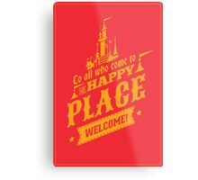 Magic Kingdom - Walt's Happy Place Metal Print