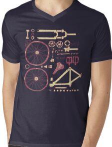 Bicycle Parts Mens V-Neck T-Shirt