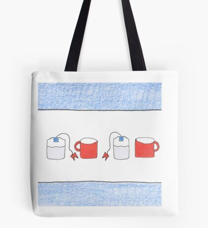 Tea for Two Chicago Style Tote Bag