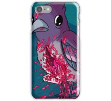 Bird with limbs falling out of a stomach hole and also a cannibal girl iPhone Case/Skin