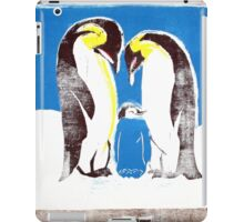 Penguins on tv iPad Case/Skin