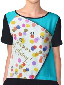 Happy Birthday Polka Dot Design Chiffon Top