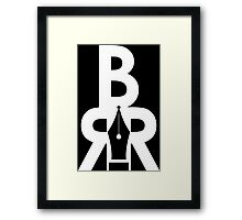 Battle Rap Résume Logo White Framed Print