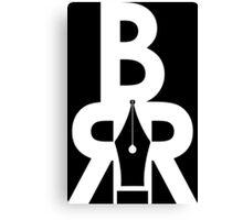 Battle Rap Résume Logo White Canvas Print