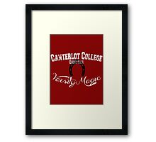 Canterlot College - Varsity Magic Framed Print