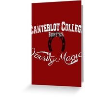 Canterlot College - Varsity Magic Greeting Card