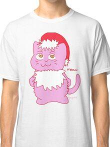 Christmas Cat Meow Design  Classic T-Shirt