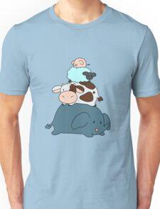 Elephant Cow Sheep Pig Stack Unisex T-Shirt