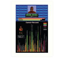 Mike Tyson Career Infographic Poster Art Print